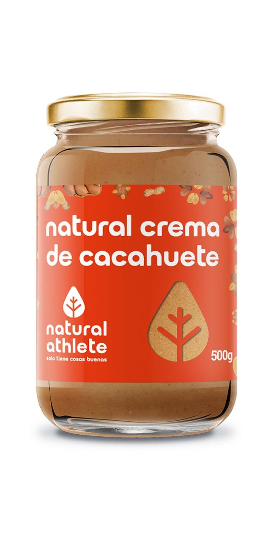 Crema de cacahuete -Natural Athlete- 100% solo cacahuetes - 100% natural, sin azúcar añadido. Pack 2x500gr: Amazon.es: Alimentación y bebidas
