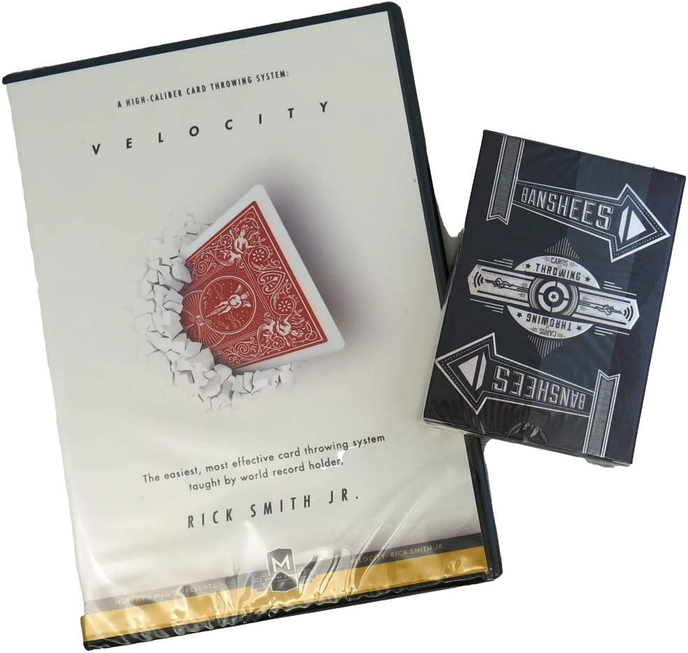 Murphy's Magic Bundle 2 Items - Velocity : High-Caliber Card Throwing System by Rick Smith Jr. - DVD with Banshees: Cards for Throwing - Trick