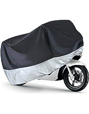 AUTOLOVER Funda para Motocicleta, Funda para Moto Cubierta Impermeable Funda Protector 190T, Cubierta de la Moto a Prueba de Polvo Protectora UV Aire Libre Resistente al Agua Cubierta (L)