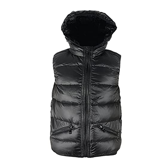 Amazon.com: Zando Warm Fashion Puffer Vest with Hood Lightweight ...