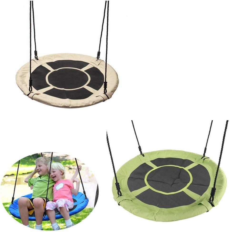Swing,Outdoor Nest Swing Family Swing Seat Set Backyard Garden 2 Piece Set,White