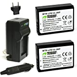 Wasabi Power Battery (2-Pack) and Charger for Canon LP-E10 and Canon EOS 1100D, 1200D, 1300D, Kiss X50, Kiss X70, Rebel…