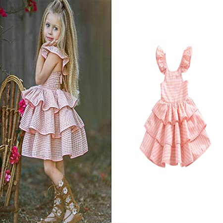 YYQX-4X Vestido de niña 1-3 años, Falda de niña Vestido sin ...