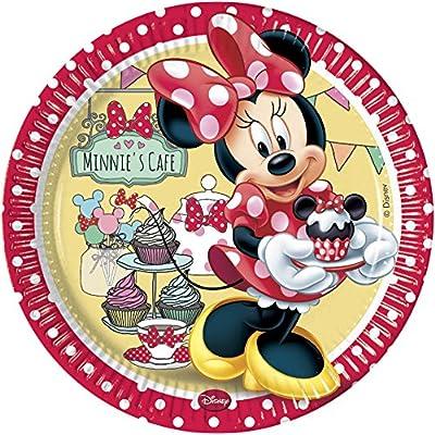 Disney Unique Party 71812 - 23cm Café Minnie Mouse Paper Plates, Pack of 8: Toys & Games