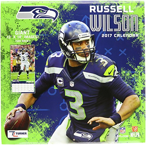 "Turner Licensing Sport 2017 Seattle Seahawks Russell Wilson Player Wall Calendar, 12""X12"" (17998011786)"