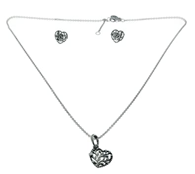 9446a50ba Image Unavailable. Image not available for. Color: PANDORA Flourishing Hearts  Jewelry Gift Set ...