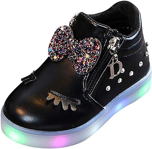 Toddler Baby LED Light Up Non-slip Sandals  Boys Girls Soft Sole Kids Crib Shoes