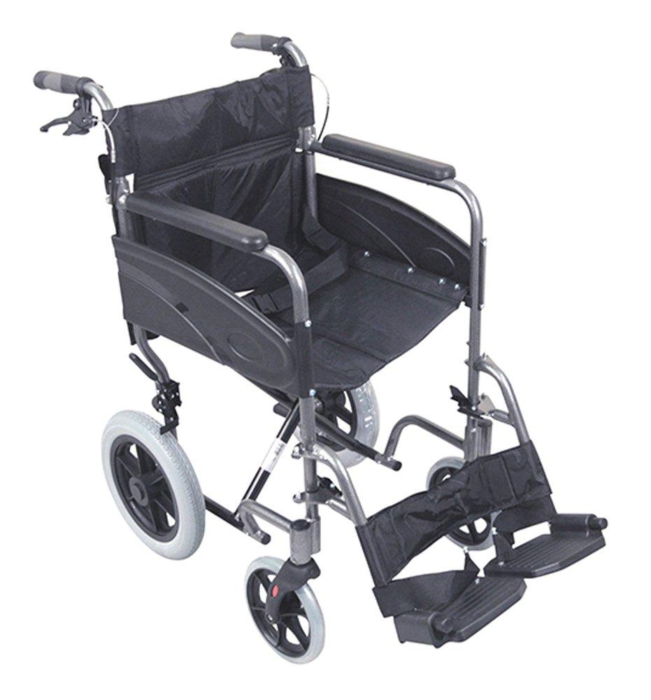 silla ruedas plegable aluminio antipinchazos