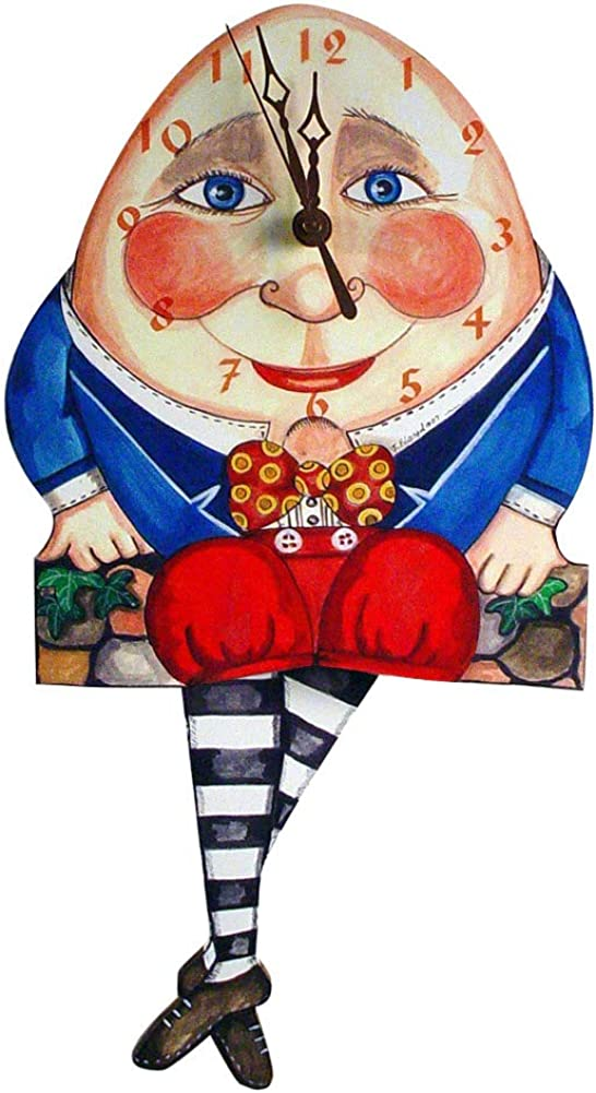 Modern Artisans Humpty Dumpty Pendulum Wall Clock