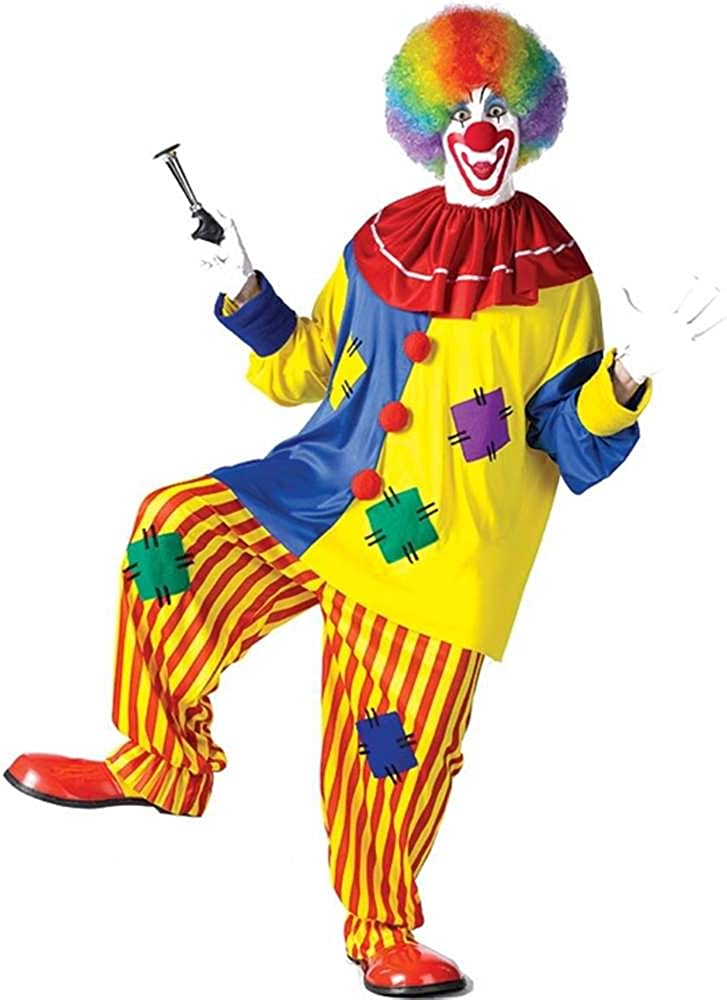 Adult clown costume used med to large very roomy Good condition