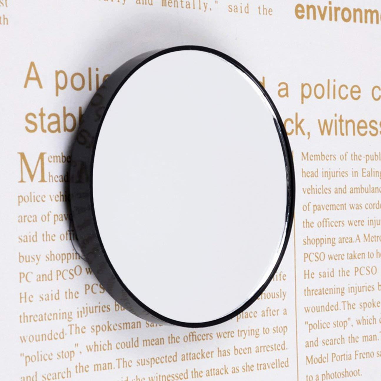 MachinYeser Vanity Makeup Mirror 5X 10X 15X Espejo de Aumento con Dos ventosas Herramientas de cosm/ética Mini Espejo Redondo Espejo de ba/ño Negro