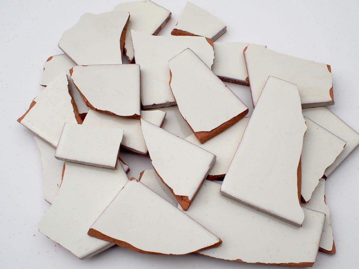 blanco y tonos mosaico de azulejos a mano elaborados mexicano azulejos Chremeweiss 900 G de rotura de mosaico