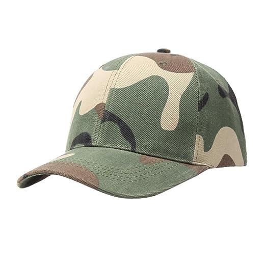 484f6fe1247 Challyhope Fashion Baseball Cap Adjustable Outdoor Camo Tactical Military  Cadet Hat Women Men (Army Green