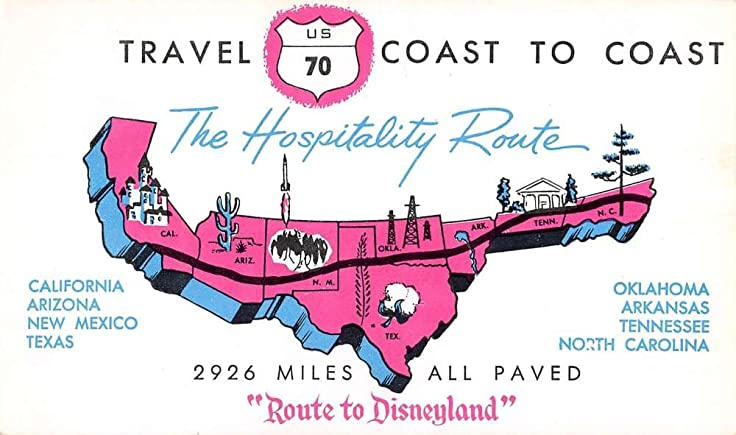 Advertisment For Hospitality Route To Disneyland US Route Map - Us route 70 map