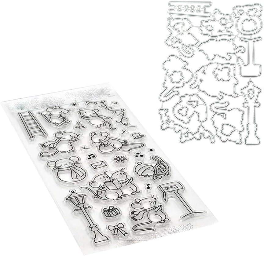 GUOQIAO/♥Maus Schneideisen Stencil Clear Stamp f/ür DIY Scrapbooking Paper Card Pr/ägung