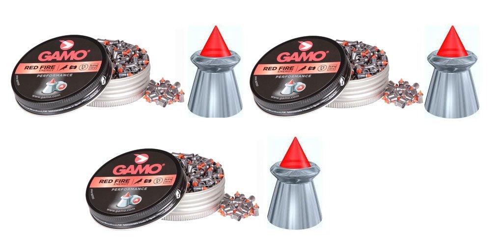 Outletdelocio. 3 latas de 100 perdigones Gamo Red Fire 5, 5mm. Modelo 322704