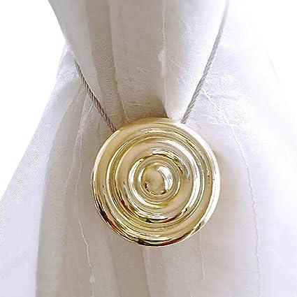 1 pinza de cortina magnética con bola redonda para cortina de ducha con hebillas adhesivas para