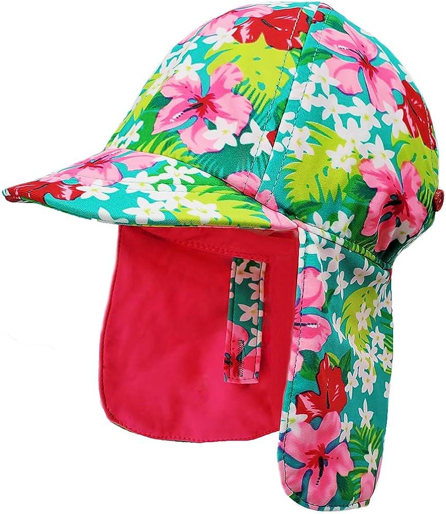Niños Verano Sombrero para el sol, UPF 50+ Gorra de protección ...
