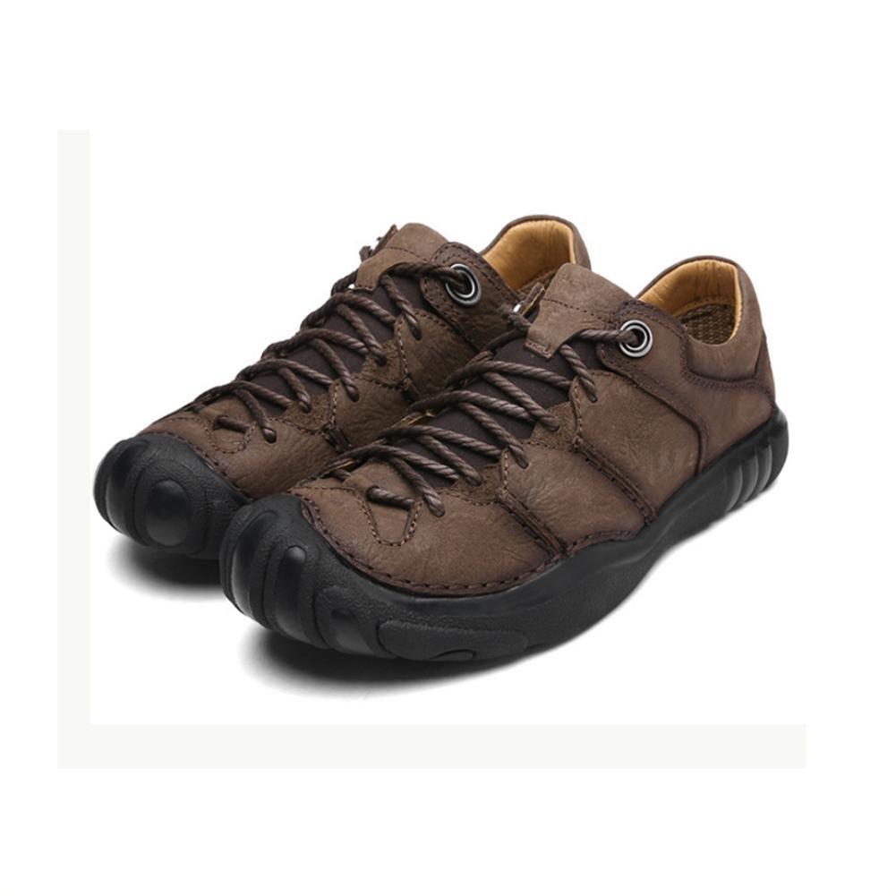Joylora Herren Draussen Klettern Schuhe Schwacher Anstieg Wasserdicht und Rutschfest Original Leder Schnüren Atmungsaktiv Warm halten Leicht Dauerhaft Stiefel zum Laufen Reisen Trekking Wandern