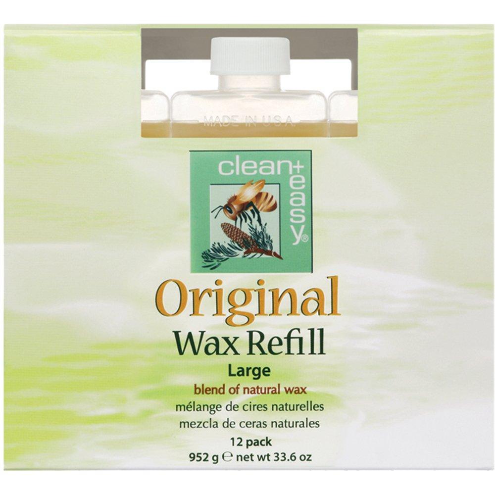 C+E Original Wax Refills, Large (leg) Original Wax, 2.8 oz - Pack of 12