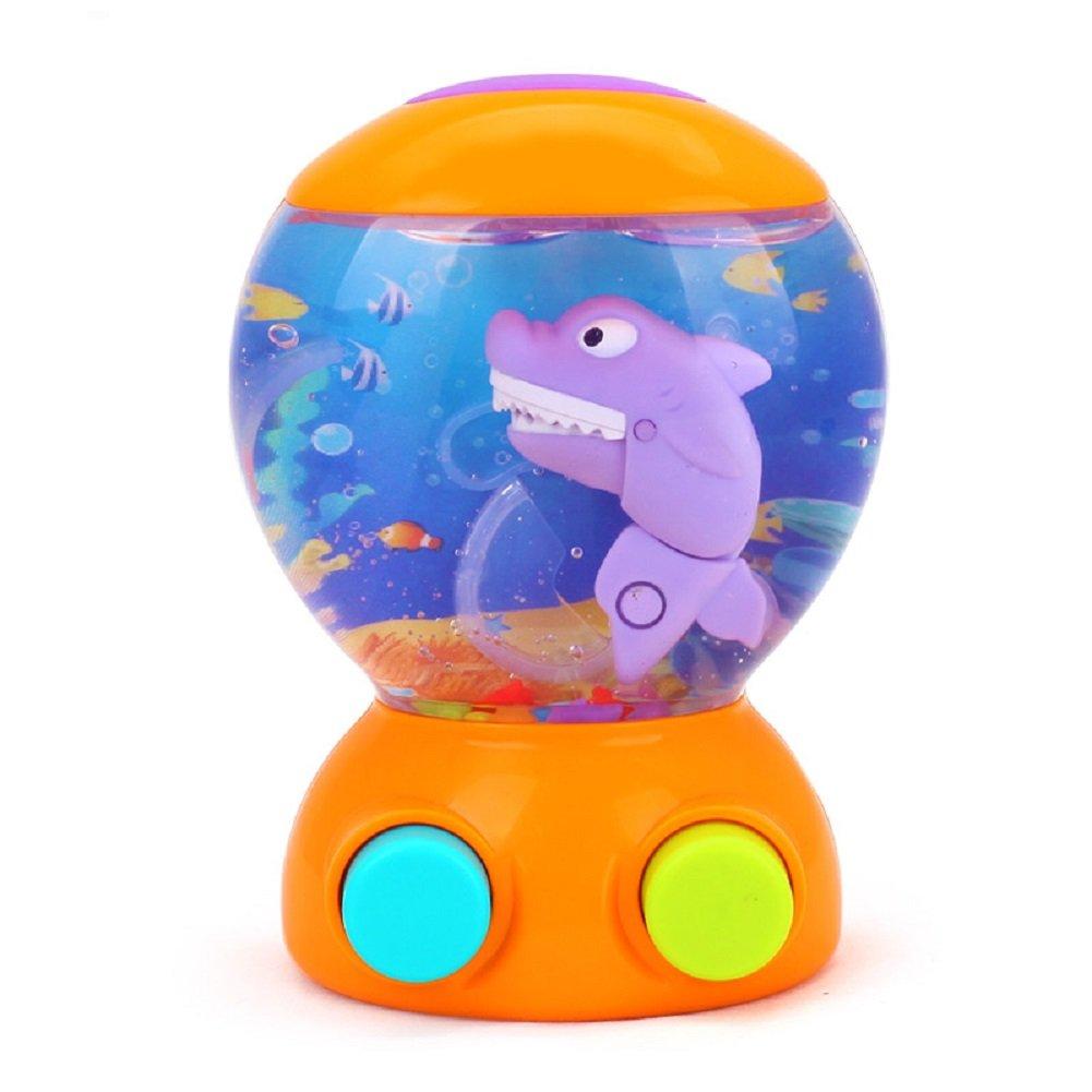 AT-Mizhi Fun Shark Water Games Handheld Water Game (Orange)