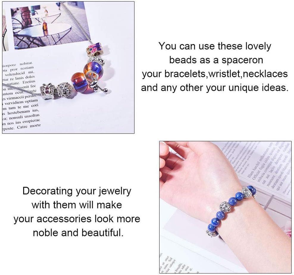 Environ 100pcs 10 Styles Perles en Alliage Animal Perles Intercalaires en Zinc de Style Tib/étain pour la Fabrication de Collier de Bracelet de Boucle doreille PandaHall Elite Argent Antique