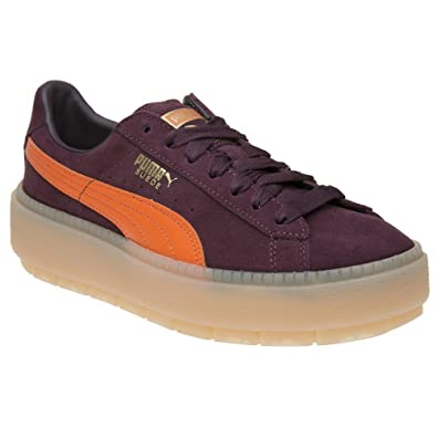 Puma Femme Block Baskets Trace Mode Bordeaux Platform trdxsQhC