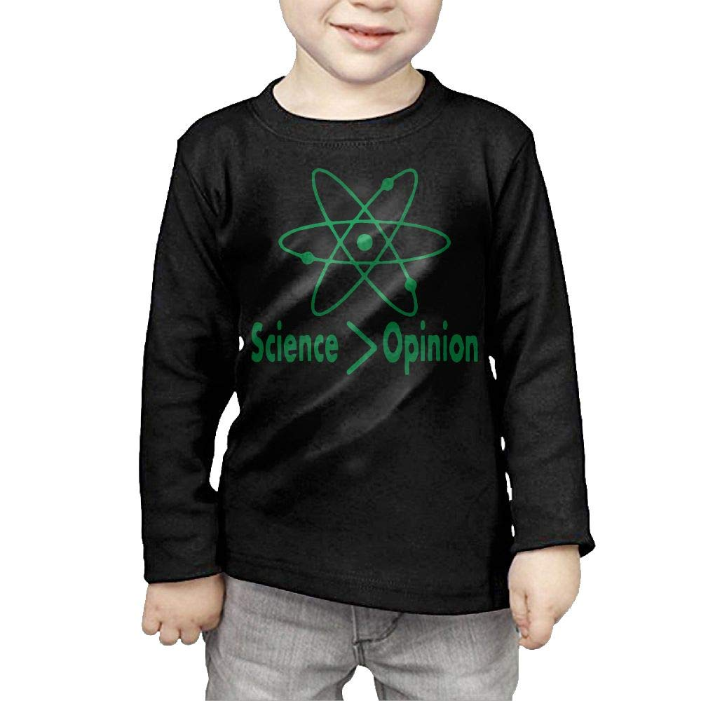 Fryhyu8 Baby Girls Kids Science is Greater Than Opinion Printed Long Sleeve 100/% Cotton Infants Clothes