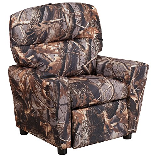 Decor Upholstery Fabric - Flash Furniture Contemporary Camouflaged Fabric Kids Recliner with Cup Holder