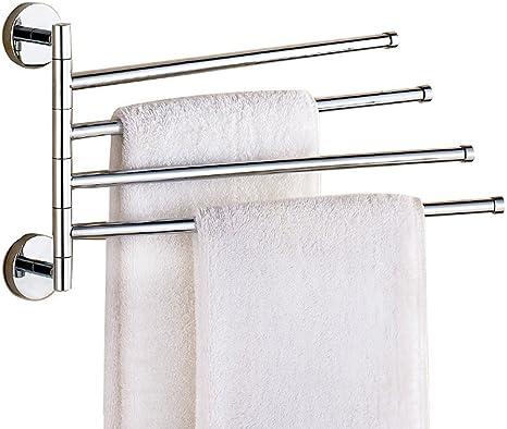 SUS 304 Stainless Steel Bathroom Chrome finish Towel Bar Rail Rack Holder Hanger