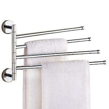 Towel Bar Aiyoo Swing Arm Towel Bar For Bathroom Brushed Nickel