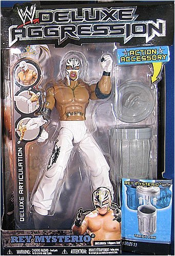 WWE Wrestling DELUXE Aggression Series 13 Action Figure Rey Mysterio White Mask [Trash Can]