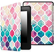 Fintie Case for Kindle Paperwhite - The Thinnest and Lightest PU Leather Cover with Auto Sleep / Wake for All-New Amazon Kindle Paperwhite (Fits All 2012, 2013, 2015 and 2016 Versions), Moroccan Love