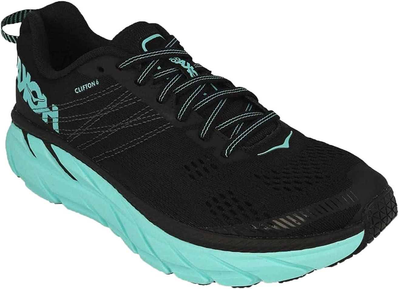 Hoka Clifton 6,Zapatillas de Running por Mujer, Negro (Black/Acqua ...