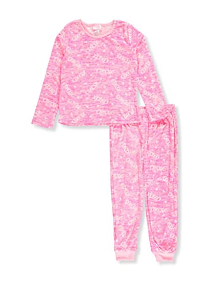 XOXO Big Girls 2-Piece Velour Pajamas - Pink/Multi, ...