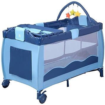 Nursery Furniture Baby Toddler Portable Foldable Travel Cot Portacot Playpen Crib Bed Bassinet Nursery Furniture