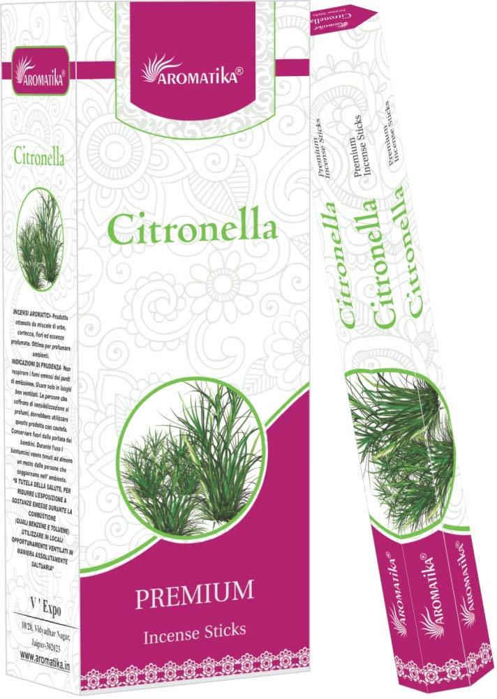 【在庫限り】 aromatikaシトロネラPerfume Incense Sticks Sticks ( Incense Hexa ) Hexa B0764BJDG7, サカエマチ:ccc76a1c --- aemmontagens.com.br