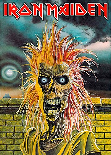 - Iron Maiden Textile Flag Eddie Band Logo Official Black Poster 65Cm X 105Cm
