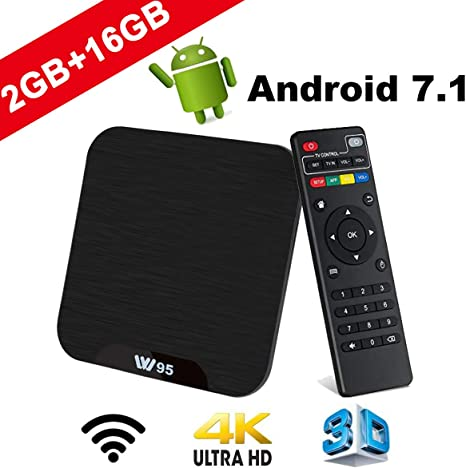 TV Box Android 7.1 - VIDEN W2 Smart TV Box Amlogic Quad Core, 2GB RAM & 16GB ROM, 4K*2K UHD H.265, HDMI, USB*2, WiFi Media Player, Android Set-Top Box: Amazon.es: Electrónica
