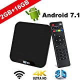 TV Box Android 7.1 - VIDEN W2 Smart TV Box [2018 Ultima Generazione] Amlogic  Quad-Core, 2GB RAM & 16GB ROM, Video 4K UHD H.265, 2 Porte USB, HDMI, WiFi Web TV Box