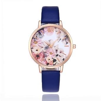 Souarts mujer reloj pulsera cuarzo Analog Reloj estampado flor ...