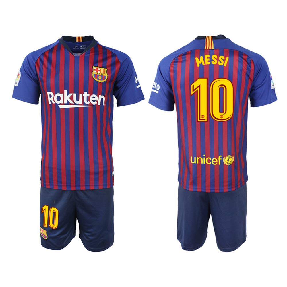 Heilo 2018/19 The New Barcelona Messi Home Men's Soccer Jersey