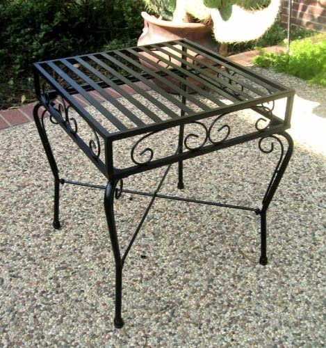 Iron Patio Side Table