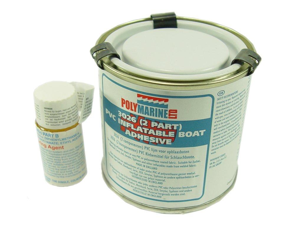 Polymarine - Adhesivo para barcas hinchables (PVC, poliuretano, 2 partes)