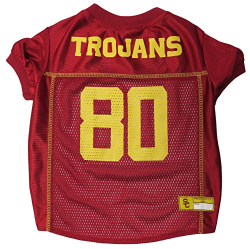 Pets First Collegiate USC Trojans Dog Mesh Jersey, Small