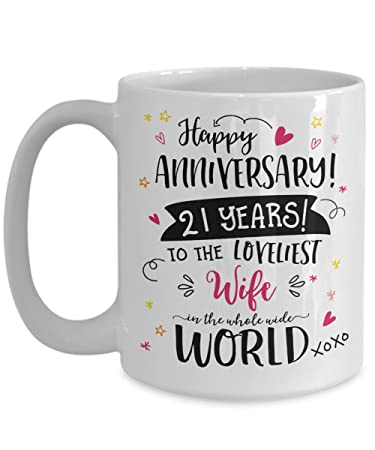 amazon com 21st wedding anniversary gifts for her loveliest wife