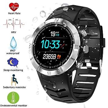 Padgene Reloj Inteligente IP67 Impermeable Bluetooth SmartWatch con Pulsómetro, Múltiples Deportes, Monitor de Sueño, Podómetro, Notificación de ...