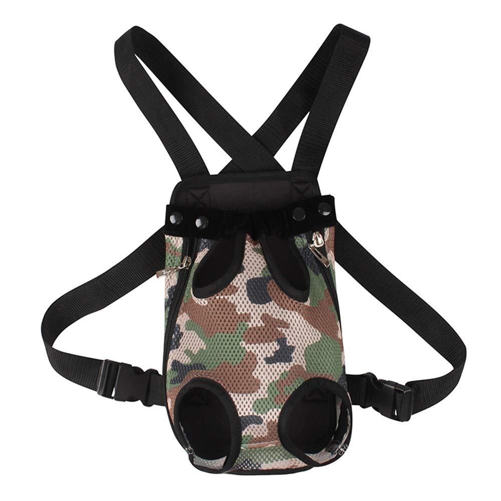 Green L Green L HYUE Pet Chest Bag Multi-Function Commodious Bag Shoulder Pet Backpack (color   Green, Size   L)
