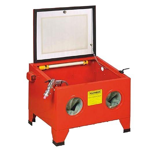 Cabina CHORREADORA/ARENADORA Máquina para Quitar el óxido Mediante Chorro de Arena a presión 90 litros RZ Tools: Amazon.es: Coche y moto