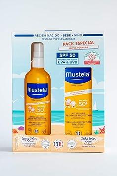 Mustela Spray Solar 200ml (SPF 50) + Leche Solar 100ml (SPF 50 ...